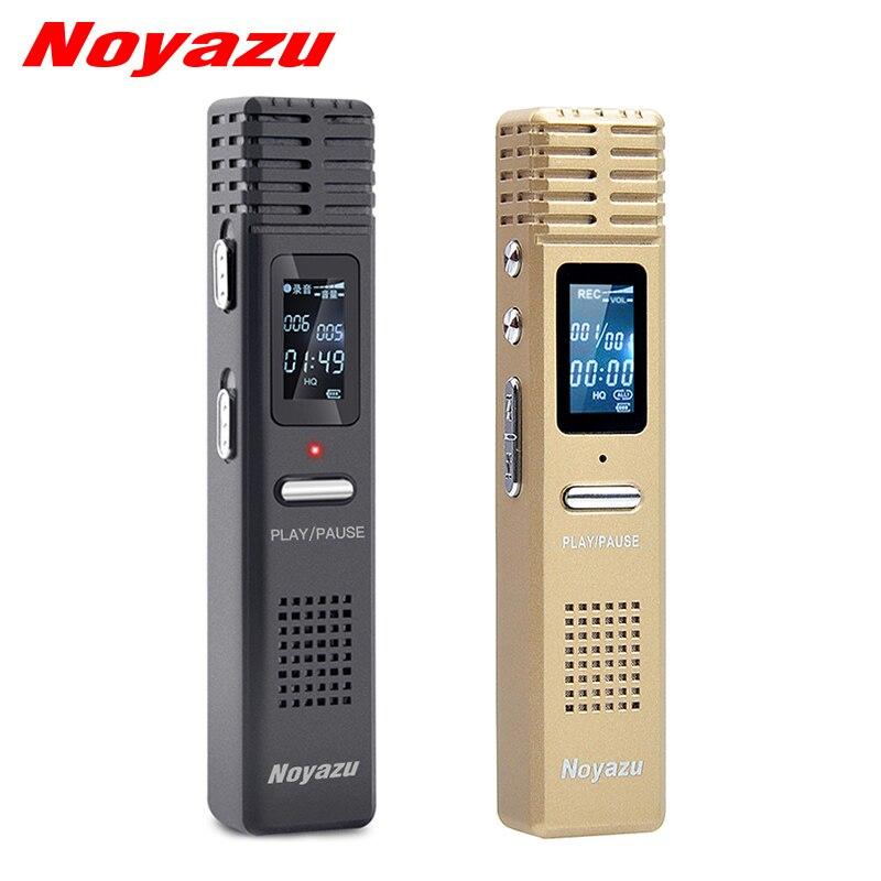 Noyazu Original X1 8Gb Voice Recorder Voice Activated Recording WAV HQ Digital Audio Recorder Professional Mini Dictaphone espia