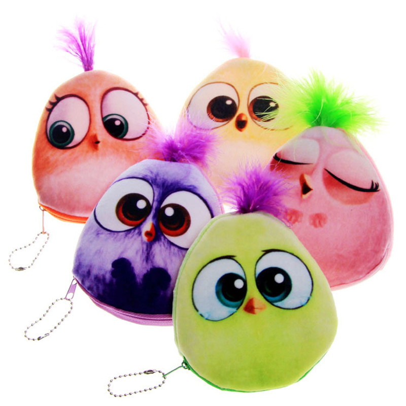 Premium cartoon plush coin pouch personality creative women wallet for children girls small purse colorful birds feathers purses factory direct wallet cartoon rabbit high quality plush coin purse activity promotional gifts for children girls