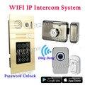 WIFI Inalámbrica de Vídeo Portero Automático Sistema de Intercomunicación, contraseña de Control de Acceso, IOS Android APP Control Electrónico Cerradura De La Puerta Abierta
