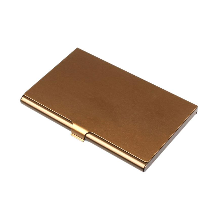 2016! Алюминиевый металлический корпус из нержавеющей стали, держатель для банковских карт, чехол для паспорта