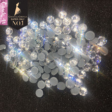 Crystal Castle Hot fix Rhinestones 4A Clear Crystal Strass Hotfix Rhinestone For Clothes Non Hot Fix Nails Stones And Crystals(China)