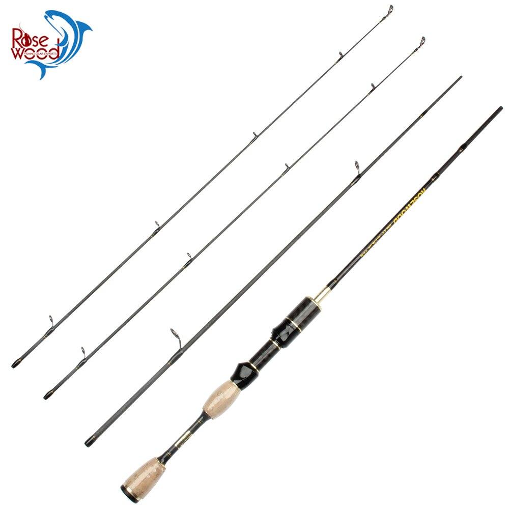 Rosewood 2 Top Tips Fishing Rod Spinning Travel Ultra Light 1 8m UL Lure Fishing Rod