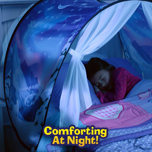 Image 3 - BUY 1 TENT GET 1 LED 3D Printed Quality Dream Tents  With Led Light Unicorn Space Twin Size Children Kid Birthday Christmas Gift