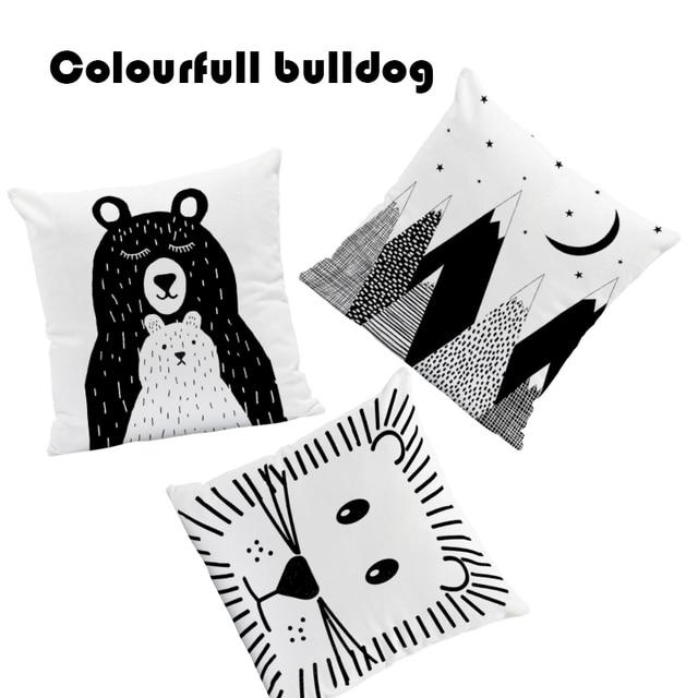 Animale Orso Polare Cuscini Copre Come Casa Caso Cuscino Bianco E Nero Piano Eur