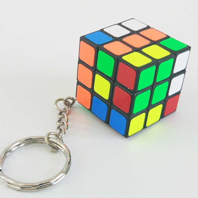 مصغرة 3rd النظام المفاتيح المكعب السحري سرعة أُحجية مكعبات لعبة تعليمية للأطفال الاطفال