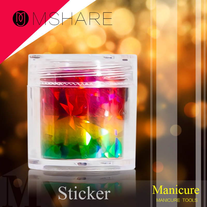 MSHARE Star Sky Nail Art Paper Sticker Tools Beauty Decorations for on Nail Stickers