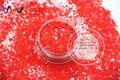 TCH313-H1 Mezclar Colores Rojo Hexágono formas Brillo resistente a los disolventes para el arte del clavo, uñas de gel, esmalte de uñas maquillaje y la decoración de DIY