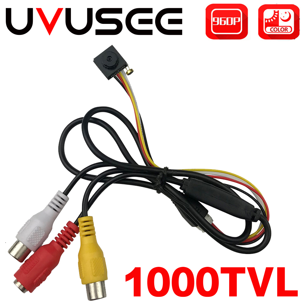 Uvusee CCTV 1/3 Sony CCD 1000TVL 3.6mm Audio Microphone HD Mini Security Surveillance Camera