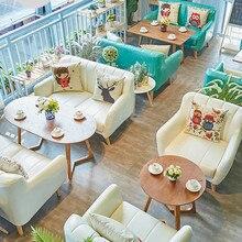 Луи Мода кафе мебель Наборы Кофейня десертный магазин стол и стул комбинация досуг