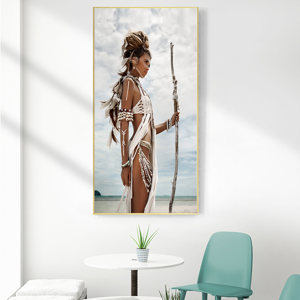 Canvas Pictures Gothic Knight Sword Large Poster Dark Shadow Warrior