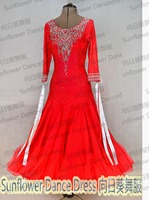 2016 NEW ballroom dance competition dresses,Smooth Ballroom Dress,Modern Waltz Tango DanceDress,ballroom danceskirts,women girl