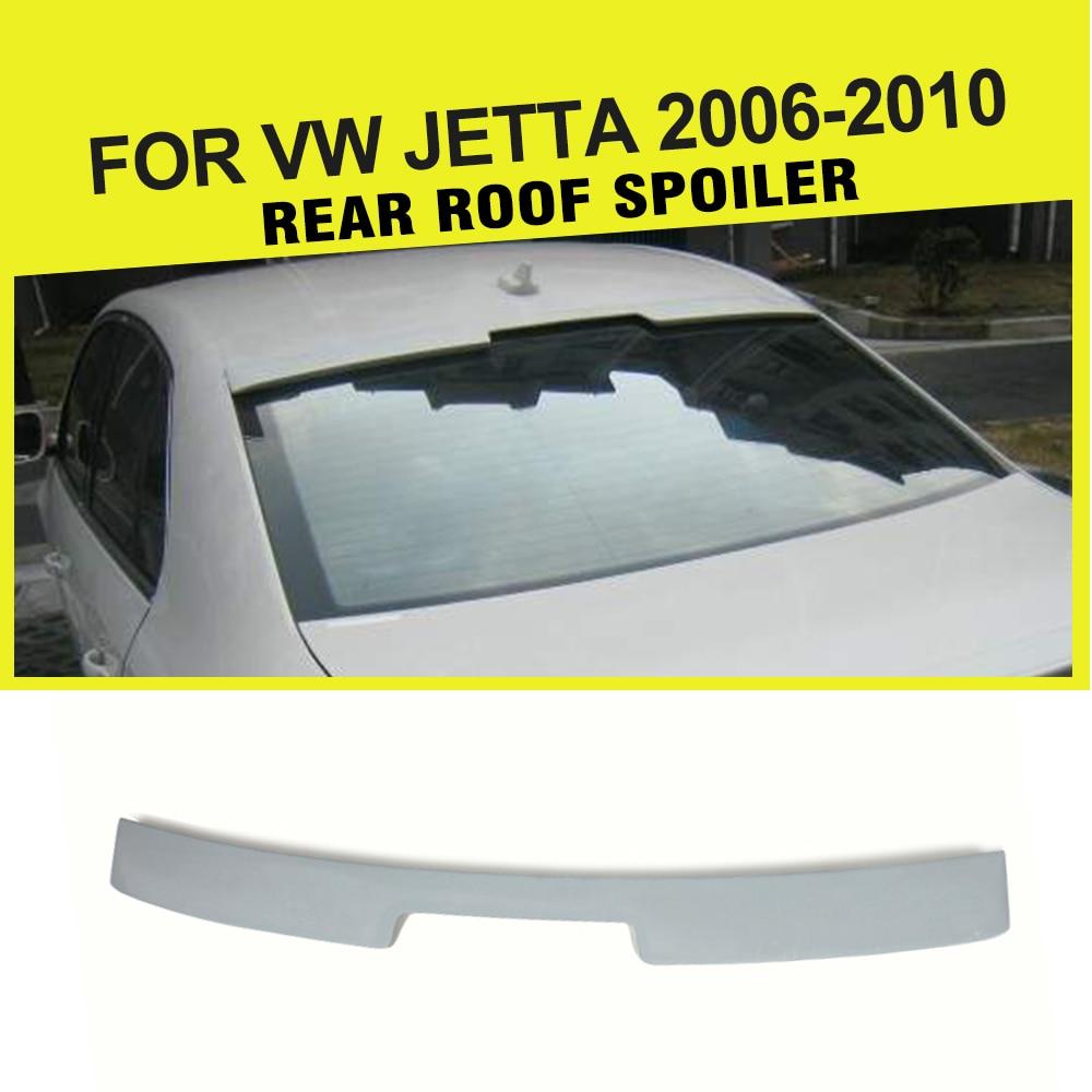FRP Unpainted Grey Auto Rear roof wing lip spoiler For Volkswagen VW Jetta 2006-2010 pu rear wing spoiler for audi 2010 2011 2012 auto car boot lip wing spoiler unpainted grey primer