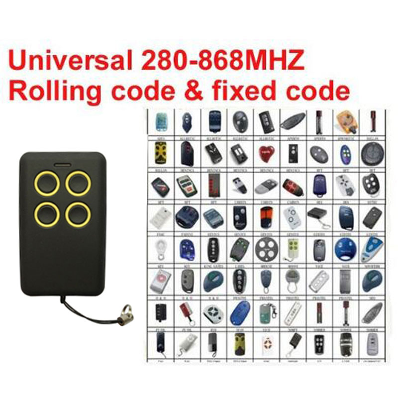 Self-learning  Universal remote control clone Multi frequency copy 280-868mhz hormann hs1 868 hs2 868 hs4 868mhz remote control replacement
