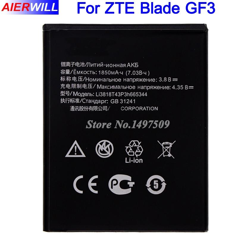 Li3818T43P3h665344 Batterie für ZTE TWM ERSTAUNLICHE A5S Klinge GF3 T320 Hohe Qualität 1850 mAh