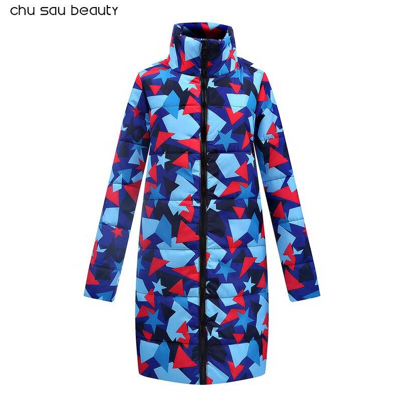 2018 Новый осень-зима длинная куртка Для женщин пальто мода женский пуховик Для женщин парки повседневные куртки Inverno парка ватные CY1622