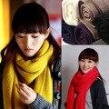 2016 новые стили высокое качество мужчины и женщины шарфы женский чистый цвет кашемировые шарфы большой платок зимний шарф люксовый бренд