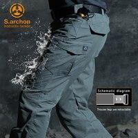 S. archon водонепроницаемые тактические военные штаны для мужчин, специальные армейские брюки-карго с несколькими карманами