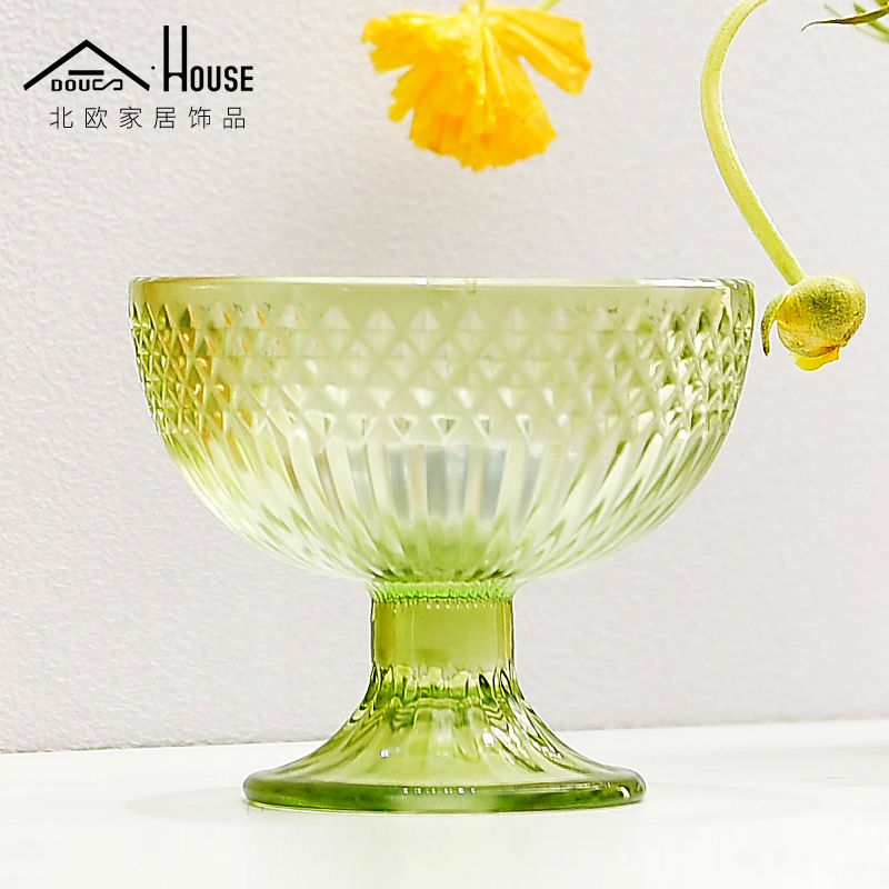 ADOUS Nordic glass dining table living room decoration Home Furnishing fruit succulent soft decoration decoration