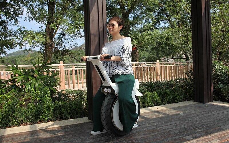 Scooter électrique Mini une planche à roulettes Monocycle à roues pour adulte extérieur Intelligent 60 V 500 W vélo électrique grande roue E vélo