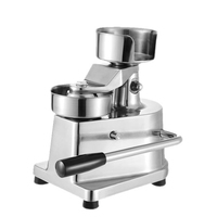 100mm 130mm Manual Hamburger Press Burger Forming Machine Round Meat shaping Aluminum Machine Forming Burger Patty Makers