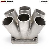 EPMAN 1 adet döküm paslanmaz çelik 304 6-1 Turbo Header Manifold birleştirme Collecttor T3 T4 Turbo TKTM6T1