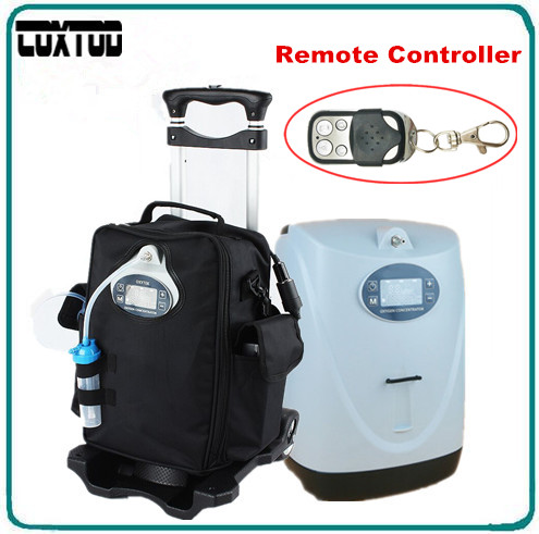 цена COXTOD Remote Control Electric Oxygen Concentrator for Travelling Battery Oxygen Concentrator Generator with Trolley Carry Bag в интернет-магазинах