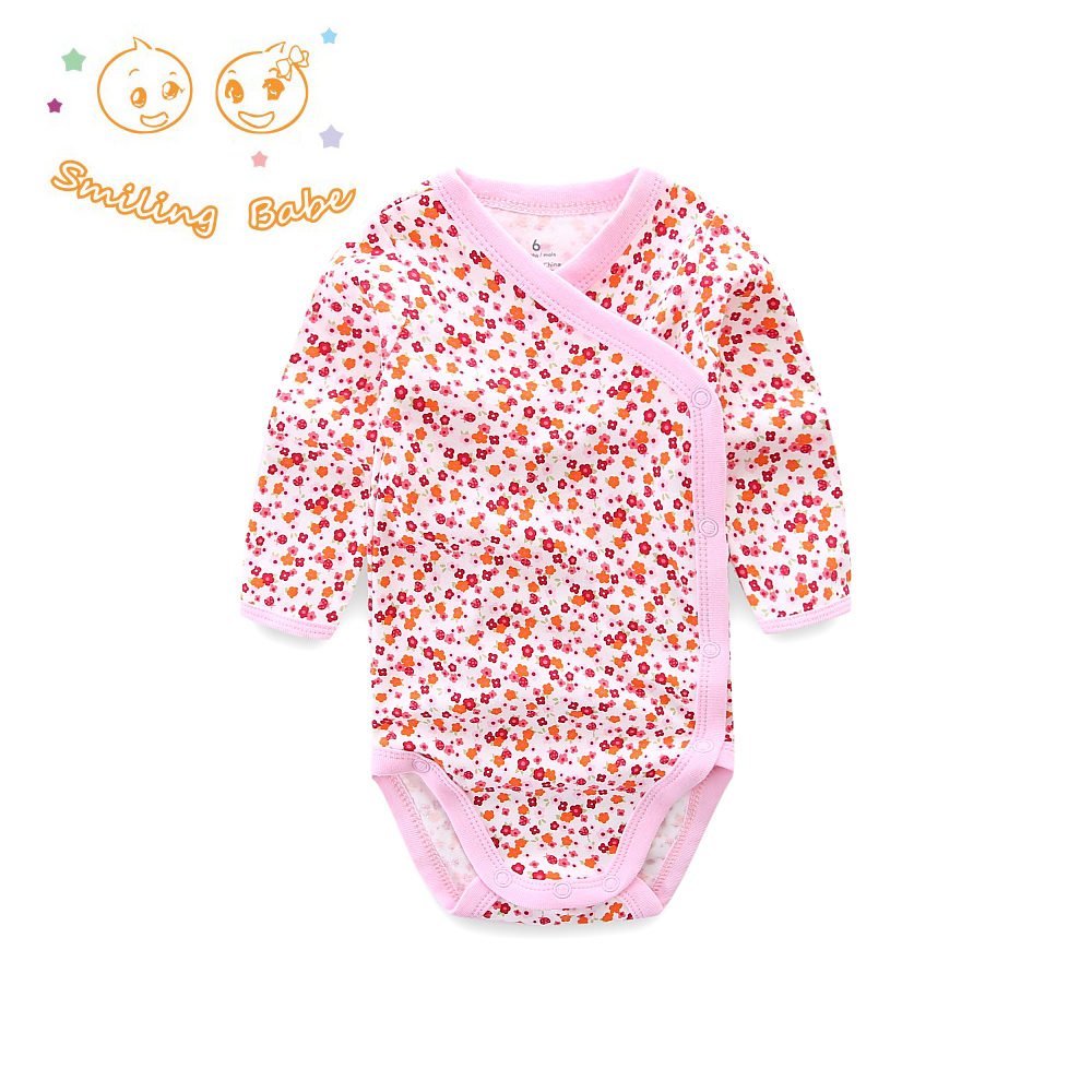 Smiling Babe 2018 Newborn Baby Clothing Soft Cotton Long Sleeve Baby Bodysuits Infant Baby Costume Bear Print Baby Clothes 3-12M цена