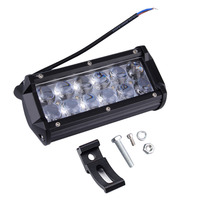 ICOCO Dual Row 7 Inch LED Light Bar Spot Work Light Off Road Auxiliary Lights Spotlight