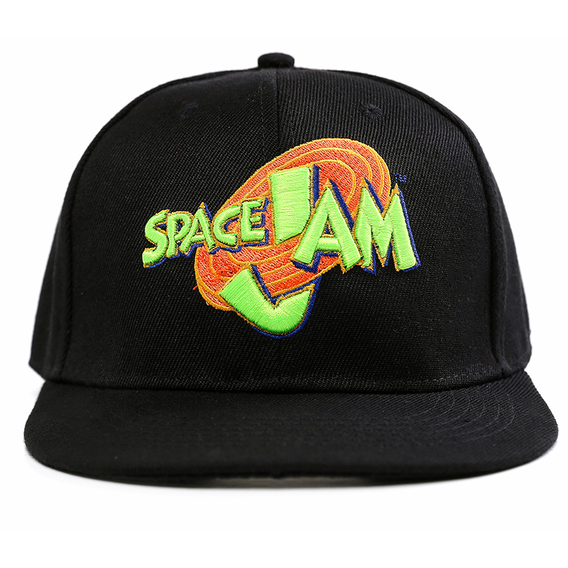 купить Anime Movie Space Jam Snapback Caps 2017 New Release Baseball Hat Flat Edge Hip Hop Caps For Women and Men недорого