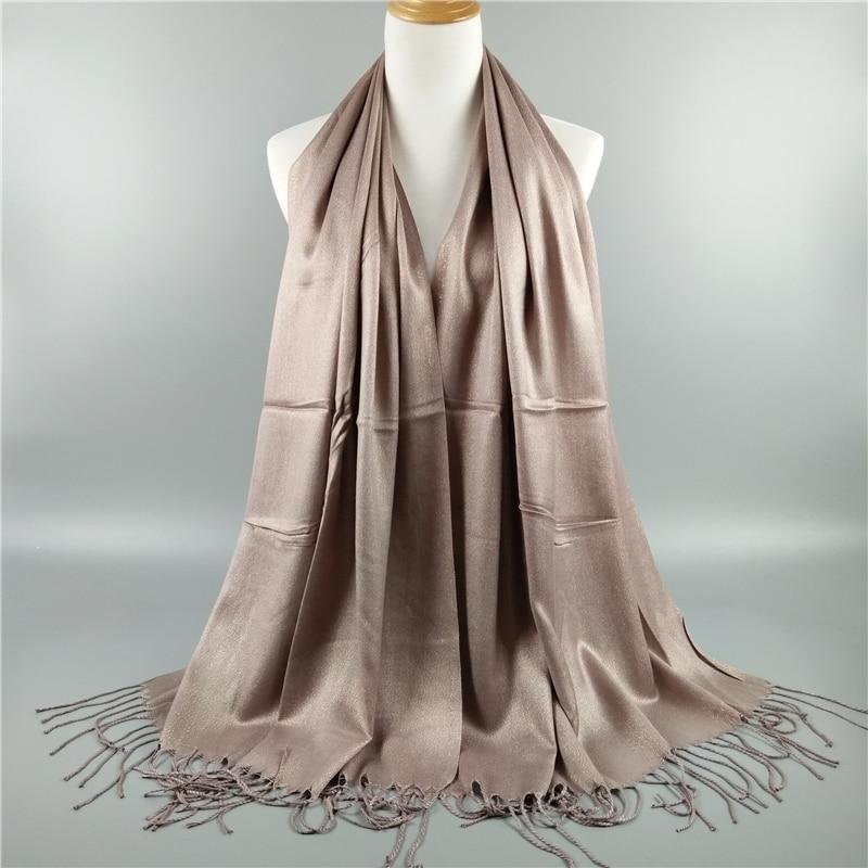18 color Fashion shimmer lurex solid cotto shawls scarves muslim hijab women winter sparklling bandelet muslim
