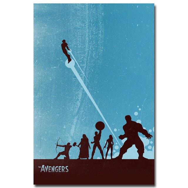 Плакат гобелен шелковый Мстители арт