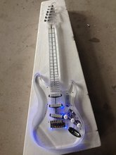 New style high quality Led light ST electric guitar with acrylic body korean quality pickups