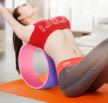 Yoga Pilates Circle TPE Yoga Fitness Roller Wheel Back Training Tool Slimming Magic Waist Shape