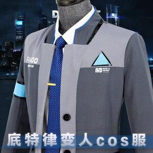 Image 4 - Ainielゲームデトロイト: なる人間コナーRK800コスプレ衣装男性剤スーツ制服コートとシャツ大人のハロウィンパーティー