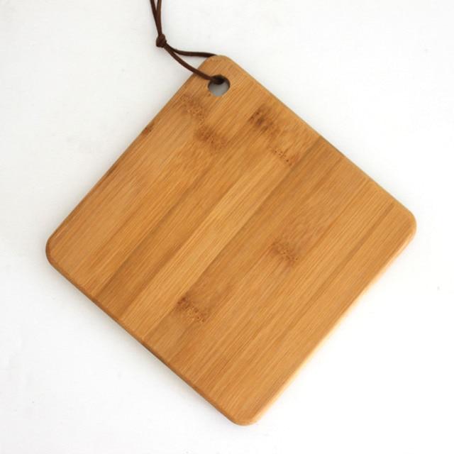 Mini planche à découper en bambou naturel, bloc à découper de cuisine pain de cuisson, assiette complémentaire en bois