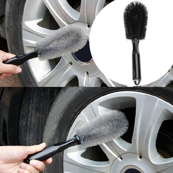 VODOOL Car Washing Wheel Brush Car Tire Rim Cleaning Handle Brush Tool Washable Handy Car Washer Brush Car Styling Accessories image