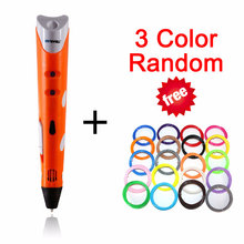 Myriwell New Magic 3D Printer Pen Drawing 3D Pen With 3 Color ABS filaments Free 3D Printing 3d Drawing Pens for Kids Gift