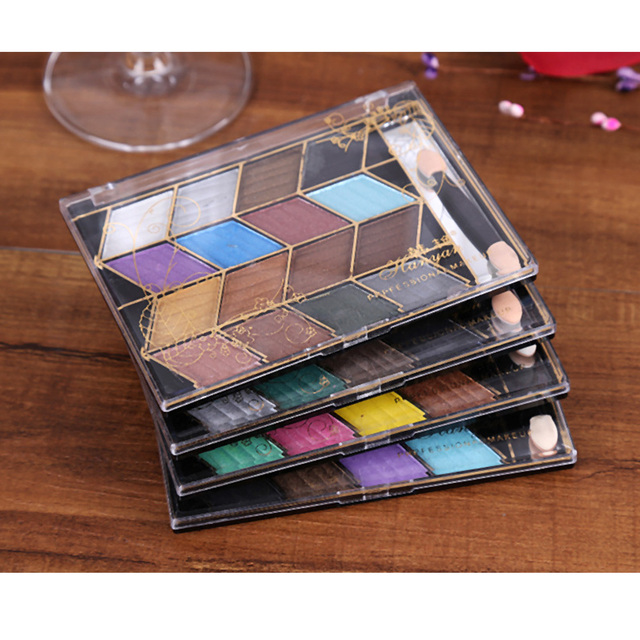 4pcs/set Pro16 Colors Eye Shadow Makeup palette Pretty Shimmer Earth color Eyeshadow kit Cosmetic Makeup Nude Eye Shadow