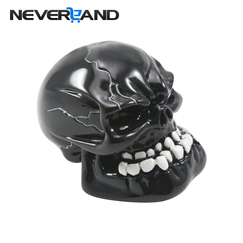 NEVERLAND Universal Manual Gear Shift Knob Shifter Lever Knob Black Skull Pomo Marchas Gear Knob Car Accessories