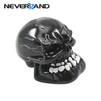 Universal Manual Gear Stick Shift Shifter Lever Knob Wicked Carved Skull