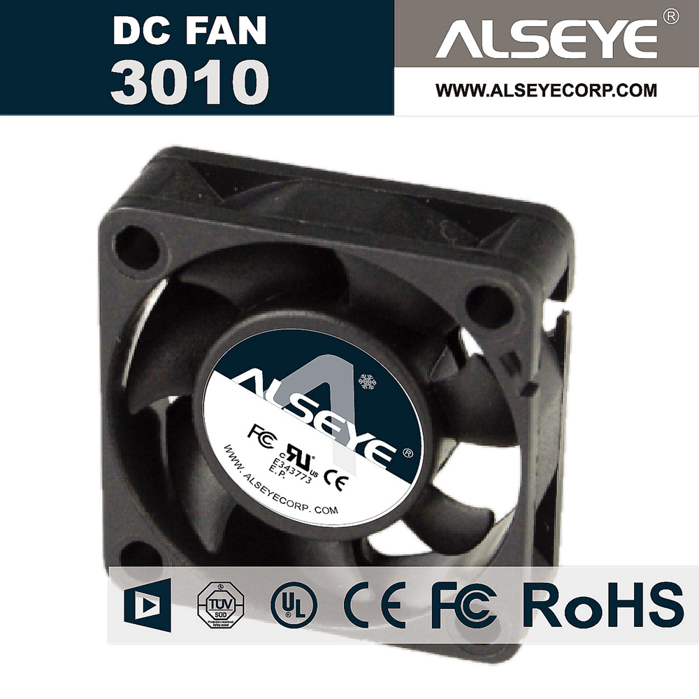 ALSEYE 3010SVH-N1 Mini cooling radiator DC fan 30mm 12v 0.32A 10000RPM sleeve bearing computer cooling fan cooler computer cooler radiator with heatsink heatpipe cooling fan for hd6970 hd6950 grahics card vga cooler
