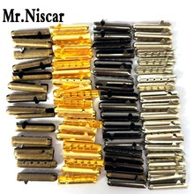 Mr.Niscar 1 Sets/40 Pcs 4x23mm 4 Color Seamless Metal Shoelaces Tips Head Replacement Repair Aglets DIY Sneaker