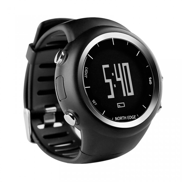 NORTH EDGE Men GPS watch Digital wristwatch for Outdoor Running Swimming Fitness Sports Waterproof Speed distance pace timer