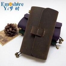 Creative Genuine Leather Notebook Handmade Traveler's Notebook Vintage Cowhide Diary Journal Sketchbook Planner N111