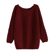 Twist Pattern Women Knitted Sweaters