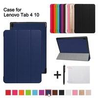 Folio Cover Case For Lenovo TAB 4 10 Protective Smart Cover For Lenovo Tab410 Tab4 10