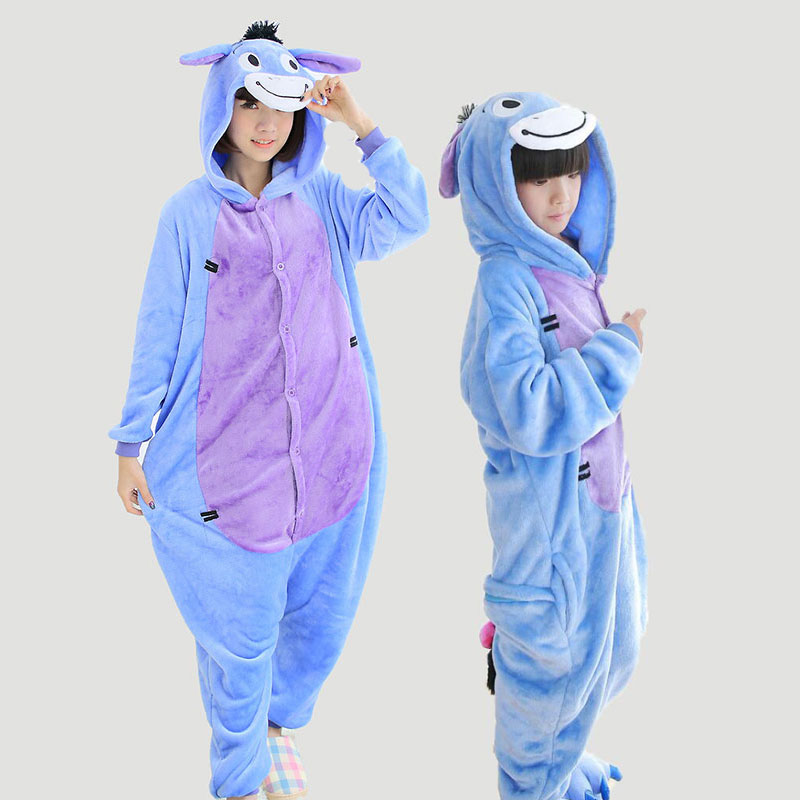 Adult Women Onesie Couples Pajamas Monther Daughter Family Pajama Set Animal Pyjama Femm ...