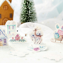 46Pcs/box Lovely Nordic Polar Pocket Items Decorative Sealing paper Stickers Self-Adhesive DIY Diary Stationery