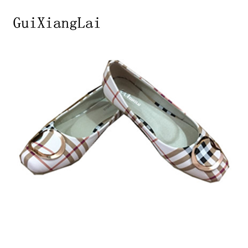 Guixianglai NEW 2018 Fashion Spring Women Flats Shoes Ladies Bow Square Toe Slip-On Flat Women's Shoes Female Plus Size 35-42 beyarne spring summer women moccasins slip on women flats vintage shoes large size womens shoes flat pointed toe ladies shoes