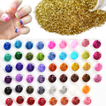 60pcs Different Colors Nail Glitter Powder Dust 3D Nail Art Decoration Acrylic UV Gem Polish Nail Art Tools Set NJ151